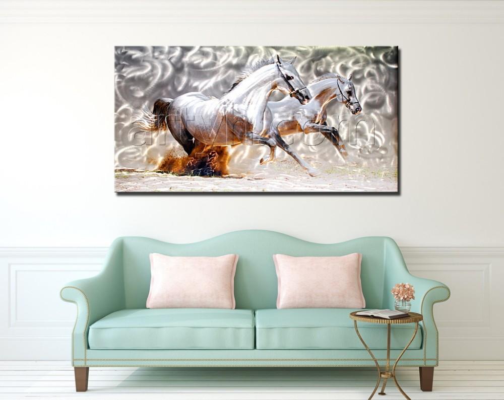 Factory aluminium wall art horse