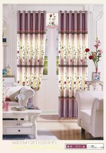 black out eyelet curtain with beauty design