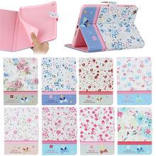 flower Printing diamond case for iPad mini 1 2 3, for ipad mini 1 2 3 bling case leather