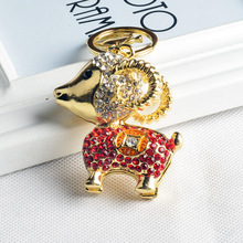 Best Christmas tourist Souvenirs and Promotion gifts jumbuck sheep shaped colorful keyring S0114