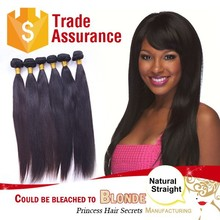 Unprocessed 100% Virgin Brazilian Human Hair Guaranteed / 100 grams / 1 pack straight /with cuticles natural color and dyeable