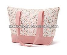 Promotional pink printed polyester shopping bag