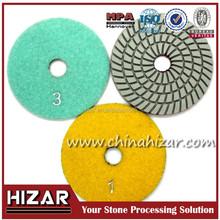 100mm 125mm Three-step Granite Polishing Pads for Wet Type