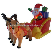 2013 outdoor inflatable decoration santa with reindeer