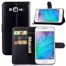 Factory Price card holder leather flip case for samsung galaxy j7 provide sample