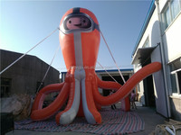 Lanqu newest inflatable octopus advertising model for sale