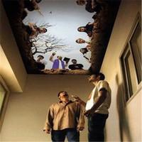 PVC vinyl 3D flooring murals,3D wallpaper,3D flooring art