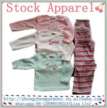 Primavera y otoño de las muchachas de la ropa del bebé sistema Tank Top y polainas Set