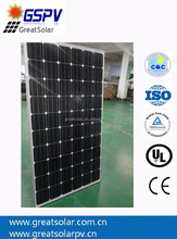 Factory Direct price mono 250W solar panel with A grade solar cell