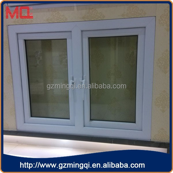 Brown Pvc Double Leaf Outwarding Casement Window Color