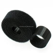 25m per pack Black color Back to Back Velcro Tape