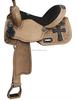 genuine leather Cross consho Tooled horse Barrel Saddle