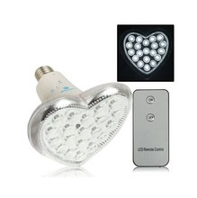 hotseller 20 LED Heart Shape Rechargeable LED Emergency Bulb with Remote Control, Base Type: E27 (EP-301)