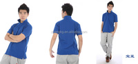 rib sleeve pure colored polo shirt, high qualty & low price