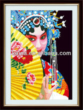 CHINESE PEAKING OPERA EASY DIY CANVAS PAINTING, FABRIC PAINTING DESIGNS IMAGES, IMAGES FOR PAINT ON CANVAS ,