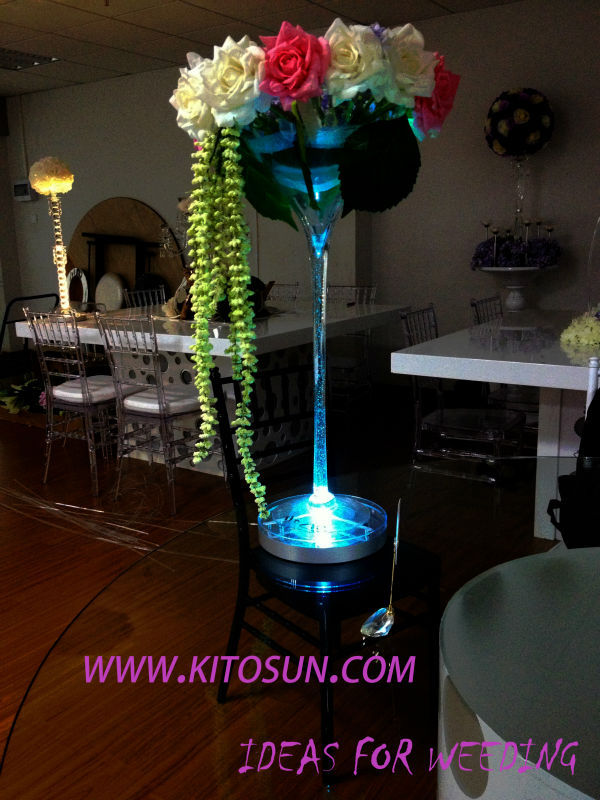 Wedding Centerpiece Lighting 8inch Spot Led Eiffel Tower Vases