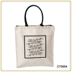 Plain Canvas Tote Bag Custom Printed Canvas Standard Size Cotton Tote Bag
