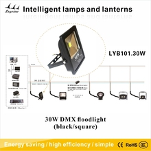 30w DMX LED Flood Light(black/square)