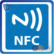 Hot sell custom iso14443a rfid 13.56mhz nfc tag sticker (NTAG203 Ultralight 1k )