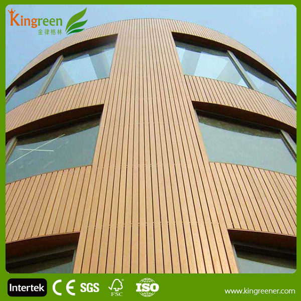 wooden vinyl composite wall cladding exterior wall