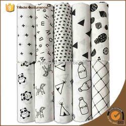 120*120cm Simple Pattern Panda Super Soft Muslin Baby Clothing Sleeping Bag