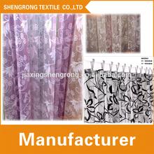 door and window curtain / flocked curtain design / turkish curtain fabric