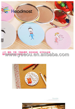 Hot sale rhinestone decorative magnification silver finish round compact mirror supplied by 20 years experienced factory