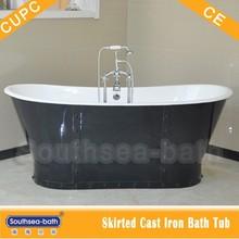 67'' Hot Sale Elegant Black Skirted Freestanding Cast Iron Bathtub / Portable bathtubs / Tub for Sale NH-1008-5
