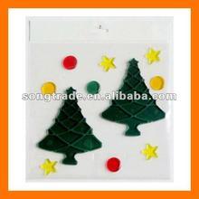 2012 fashion non-toxic PET decoration christmas tree sticker