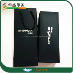 wholesale custom design gift wine paper bag with handle