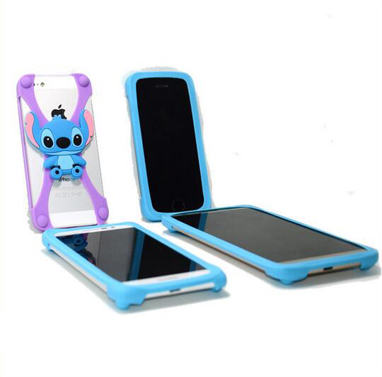 Colorful bumper Mobile Phone silicone bumper cell phone case universal flexible bumper phone case