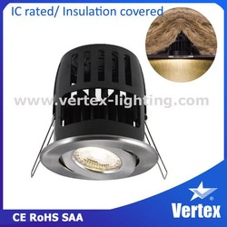 SAA Certificate 8W COB recessed Mounted LED ceiling down light
