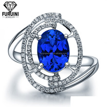Milky Way system artificial blue sapphire rings