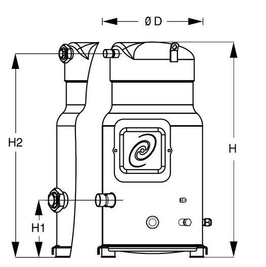 Danfoss Maneurop Compressor SZ125