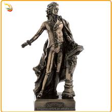 Modern Famous Musician Bronze Mozart Sculpture For School Decoration