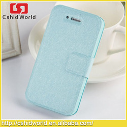 Luxury Glitter PU Leather Cases for iPhone 4,many color in stock cases Magnetic Flip stand for iPhone 4 case