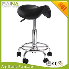 Mobile rolling pub salon saddle bar stool chair with wheels