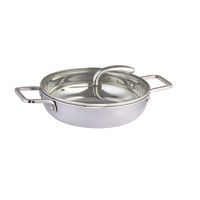 Mirror polishing small stainless steel fry pan with factory price