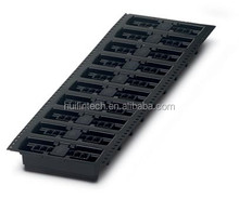 Black mini tape terminal block vertical to the pcb 3.81mm pitch