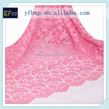 2015 baby pink women suit nigerian lace/Nigeria guipure lace embroidery design for wedding dresses in turkey