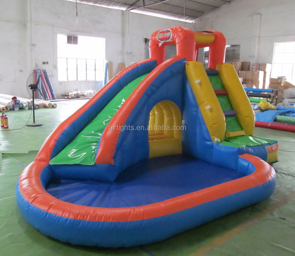 Funny inflatable water slide with pool colorful cheap for Cheap inflatable pool