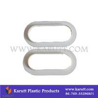 Dongguan laminated plastic PE bag handle buckles manufacturer