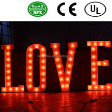 """High quality LED large bulb letter signs """"LOVE"""""""