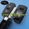 High quality 3 buttons car key shell for Hyundai Rio flip key Hyundai car remote control