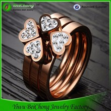 Three finger Ring fashion gold engagement rings design J4-0132