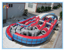 New design inflatable obstacle course with slide,obstacle course bouncer with price,obstacle course equipment for adults