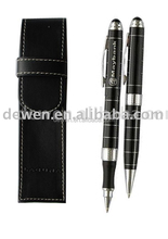 Hot sale---High grade Metal GIFT PEN SET for bank with Leather pen pouch