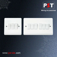 UK 3 Gang and 6 Gang 1 Way Plate Switch
