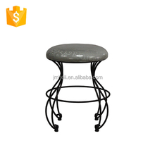 classical durable quality fabric padded footstool