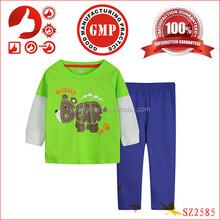 2015 children top brands winter clothing 100% cotton organic boys kids outfits cartoon boys homewear clothing sets